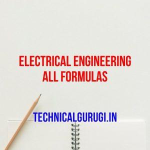 electrical engineering all formulas