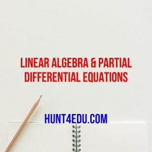 linear algebra & partial differential equations