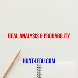 real analysis & probability