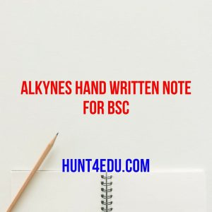 alkynes hand written note for bsc
