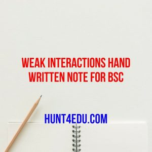 weak interactions hand written note for bsc