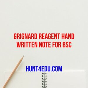 grignard reagent hand written note for bsc
