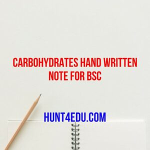 carbohydrates hand written note for bsc