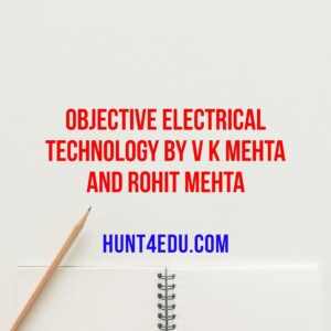 Objective Electrical Technology By V K Mehta and Rohit Mehta