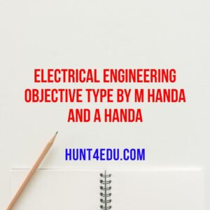 Electrical Engineering Objective Type By M Handa And A Handa